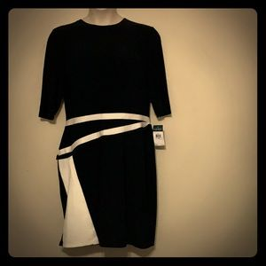 Ralph Lauren Black and White Dress with Stretch 18